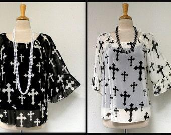 New Style One Shoulder off Designer tunic Top, boho, hip hop.Regular Size