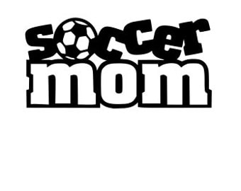 Soccer, Mom, SVG File.  For Silhouette or Cricut Machines.  For use with HTV, Oracle 631/651, Paper cutter file