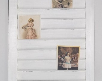 Shabby Chic Cottage Wooden Shutter Photo Memo Board *SALE*