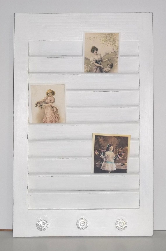 Shabby Chic Cottage Wooden Shutter Photo Memo Boards *SALE*