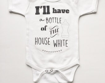 Funny Baby Clothes, Bottle of House White bodysuit, Baby Bodysuit, Baby Shower Gift, Maxandmaekids, max and mae