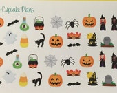 Cute Halloween Witches and Friends Planner Stickers