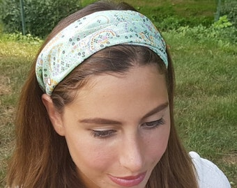 Paisley Headband, Pattern Headband, Hair Accessories, Womens Headband, Bow Headband