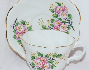 Crown Stamp Teacup & Saucer - 209