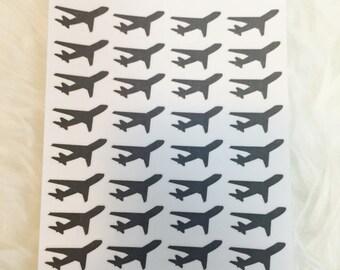 Airplane Planner Stickers | Erin Condren & Plum Paper Planner