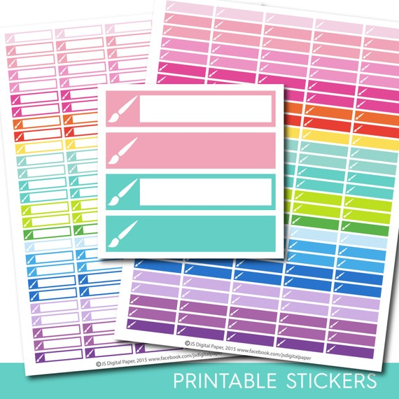 Paint brush stickers paint brush planner stickers paint for Paint planner