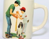 Vintage Baseball Cocker Spaniel Coffee Cup/Mug
