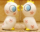Vintage Holt Howard Peeping Tom and Tweetie Salt and Pepper Shakers
