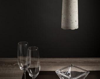 "Concrete lampshade ""Lampshade #2"" for pendulum lights"