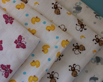 "Large 44"" x 44"" Guaze/Muslin Swaddle Receiving Blanket"