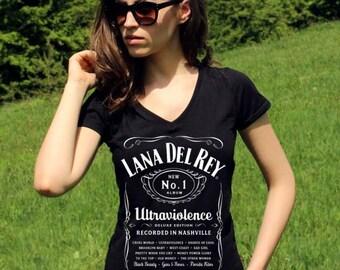 Lana Del Rey TShirt Lana Del Rey Shirts Lana Del Rey T Shirt Lana Del Rey Top V Neck Women Pop Rock Indie Shirt