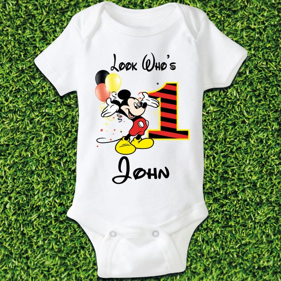 Mickey Mouse 1st Birthday Baby Boys Clothing by SayBabyApparel