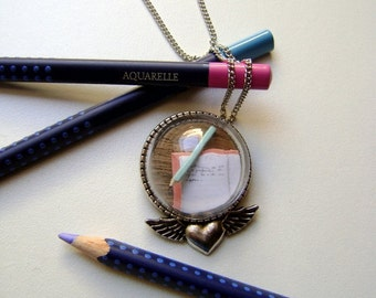 Brooch and pendant for a writer or a story teller - Alexia
