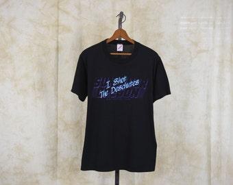 Oregon T Shirt Deschutes River Shirt 80s Graphic Tshirt 1985 Vintage Sun River Top Burnout Paper Thin 1980s Retro Tee Sunriver Black Large