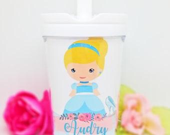 Princess Cinderella sippy cup, Cinderella todler sippy cup, Cinderella Cup, Cinderella water bottle, Cinderella party favors