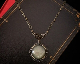 Vintage // Gothic // Victorian necklace // antique brass filigree necklace