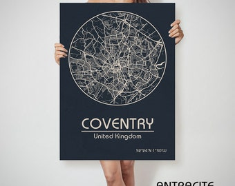 COVENTRY UK map England Coventry art, Coventry print, Coventry, Coventry map, Coventry England, Coventry wall art