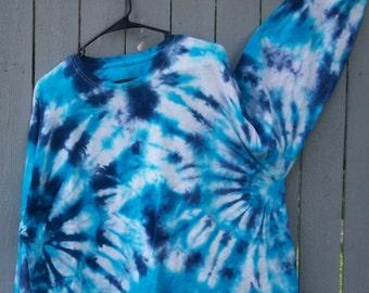 Blue Splatter Tie Dye