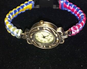 Braided strap watch
