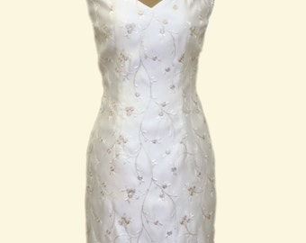 short Wedding Dress with romantic neckline