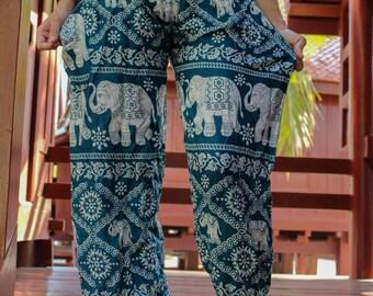 elephant pants harem pants hippie pants hobo pants Green