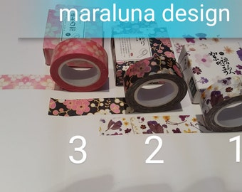 Japanese Washi tape with floral decorations-flowers-Japaneese flowers
