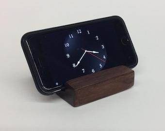 Iphone stand - wood, walnut