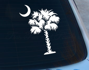 Palmetto Tree Decal - South Carolina Sticker - SC - Carolina Tree - Palmetto - Charleston - Laptop - Macbook - Car Decal