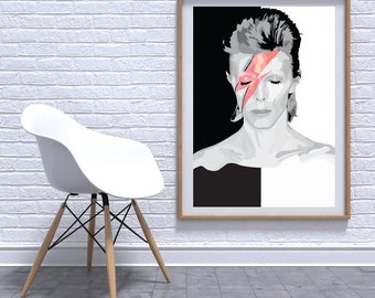 David Bowie Ziggy Stardust digital print A3 - A1