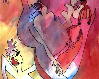 Creature Dance (original painting)