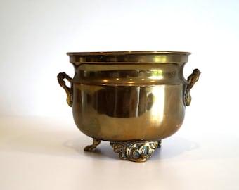 Cooper flowerpot.Pot. Antique hammered cooper pot Copperware planter.Copperware Flower Pot.Hammered Copper Planter.French Vintage flower pot