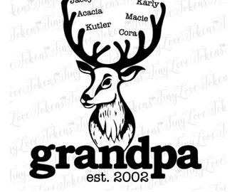 Grandpa Buck SVG Design for Silhouette and other craft cutters (.svg/.dxf/.esp/.pdf)