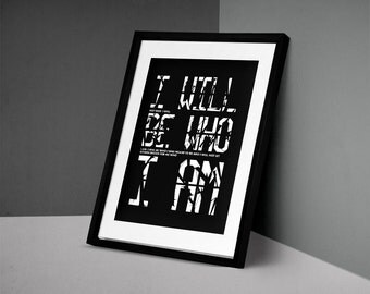 LIMITED: Screenprint Quote Typography Poster