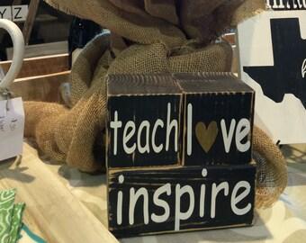 Teacher quotes, Teacher gift, Teacher appreciation, teacher  stacker blocks