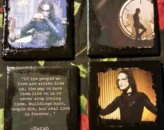 Set of 4 The Crow/Brandon Lee Coasters