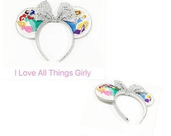 Disney Princesses Disney Minnie Mouse Ears, Disney Princess Ears, Disney Trip