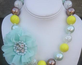 Flower Brooch Necklace