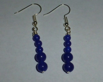 Blue aventurine earrings