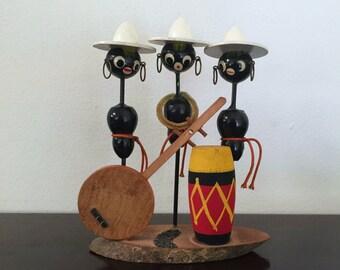 Vintage Black Americana Musicians Figurine