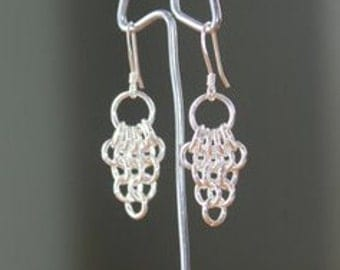 "Sterling Silver ""Grapes on a Vine"" Earrings"