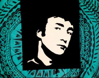 John Lennon (The Beatles): Hand Painted Canvas Portrait 8x10
