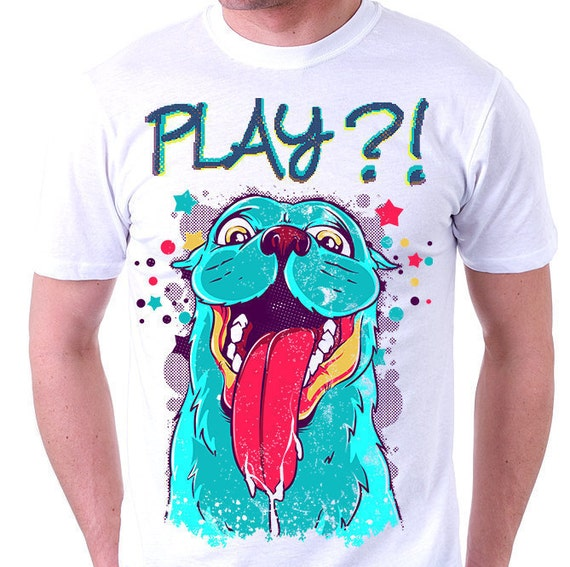 items similar to mens graphic tee tshirt with dogs