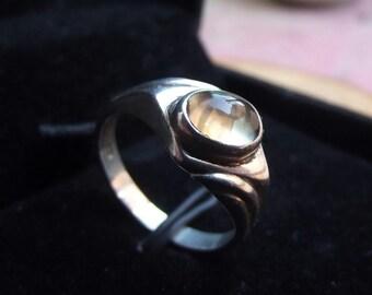 925 sterling silver ring, smoky quartz silver ring, stone ring for women, natural smoky quartz ring