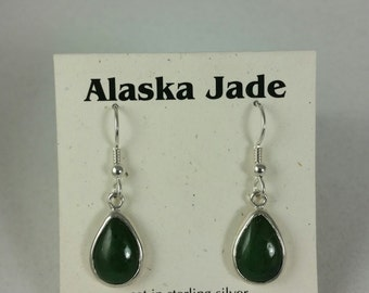 Alaska jade French wire earrings