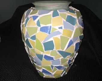 Mosaic pottery Vase