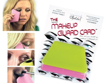 The Makeup Guard Card - Apply eyeshadow, eyeliner & mascara mess free with precision, accuracy. A perfect application every time!