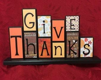 Thanksgiving Wood Block Set