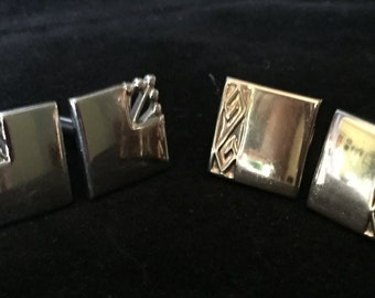 Two pair vintage Swank cuff links