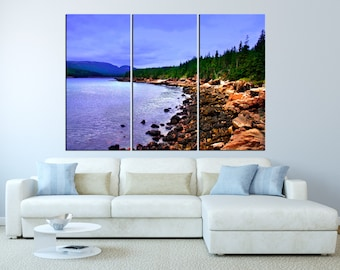 Acadia National Park, Maine canvas print wall art , extra large wall art, nature forest canvas print wall art lake canvas print t348