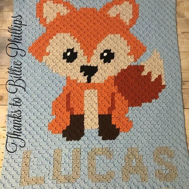 Instant Download Fox Crochet Graph Crochet Pattern